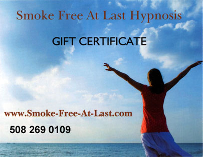 hypnosis gift certificate