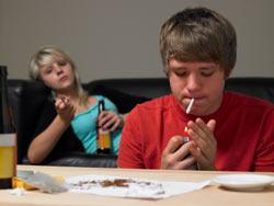 teenage smoking image